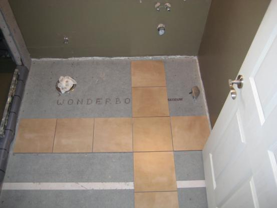 Laying A Bathroom Tile Floor One House One Couple