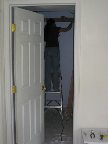 lowering a ceiling