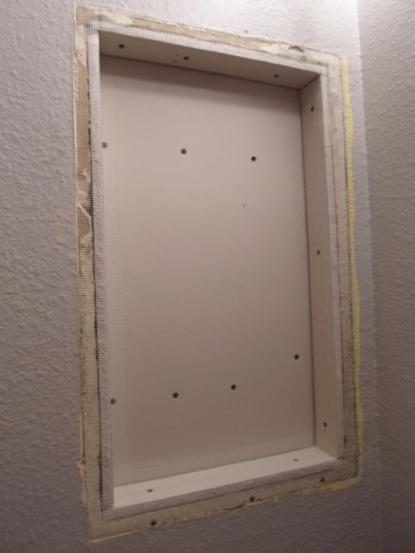 Ufo Diy Challenge Medicine Cabinet Turned Open Shelving