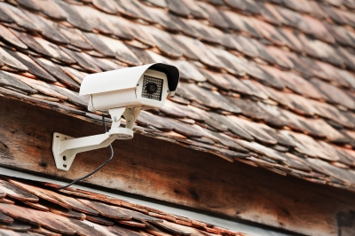 How do you wire a security camera in your home?