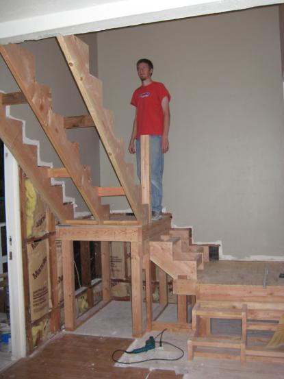 Building awesome brand new interior stairs one house one for Pre built stairs interior