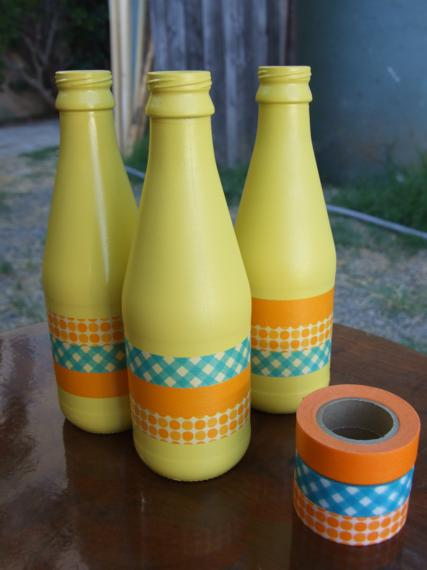 Washi Tape Wine Bottle Project