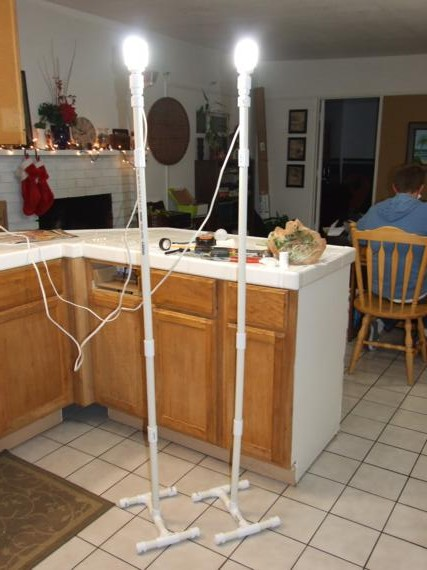 Diy Pvc Light Stands One House One Couple